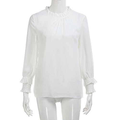 20ed32f5884 TOPUNDER Women Blouse, Three Quarter Sleeve Flower Printed Casual Tops T  Shirt (XL, White)