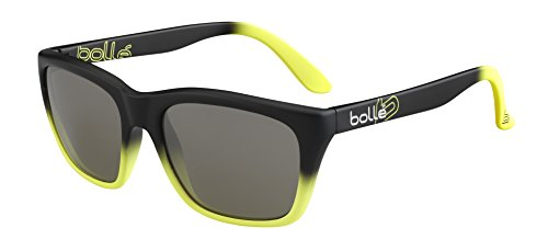 Bolle 527 Sunglasses Matte Black/Yellow, Smoke