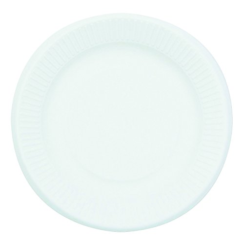 Compostable Sugarcane Bagasse 10 inch 3-Compartment Plates, Round, White, 50 plates per pack by Nature House