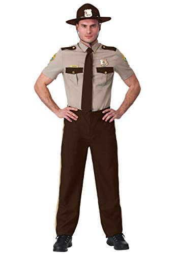 Super Troopers Adult Plus Size State Trooper Costume 2X Brown ()