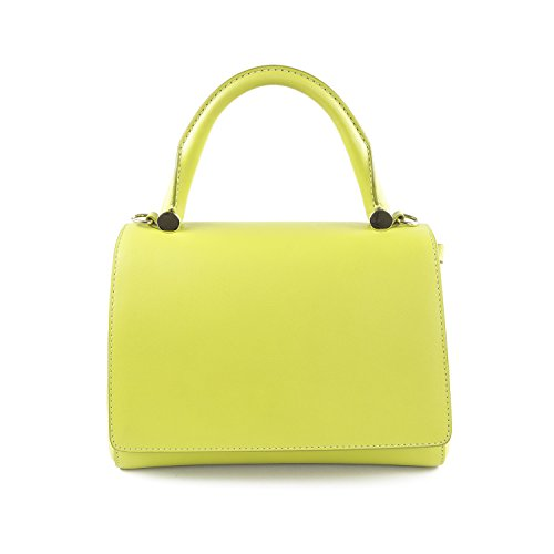 Max Mara Women's JBag28S Leather Satchel Bag One Size Lime Green