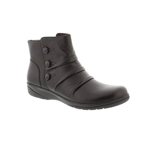 Clarks Womens Cheyne Anne Black Soft Leather Flat Ankle Boots Black lLZRyDougj