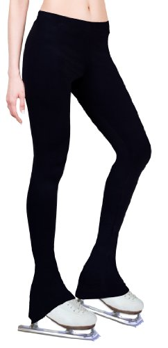 Figure Skating Practice Pants - Black (Adult Small) (Ice Skating Pants)