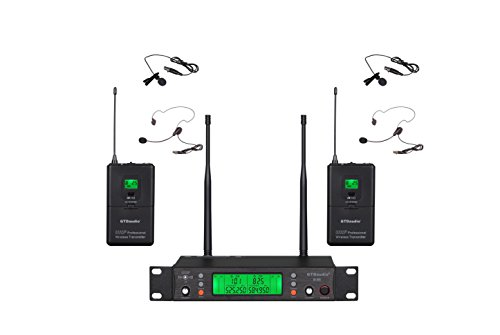 GTD Audio UHF 200 Selectable Frequency Channels Professional Wireless Microphone System (Headset & Lapel Lavalier Mic) B88 by GTD Audio