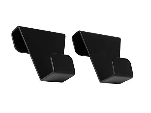 EVHooks.com Coat Hooks Designed for Tesla Model S - Black (Set of 2) - Anodized Aluminum Garment Clothes Hanger
