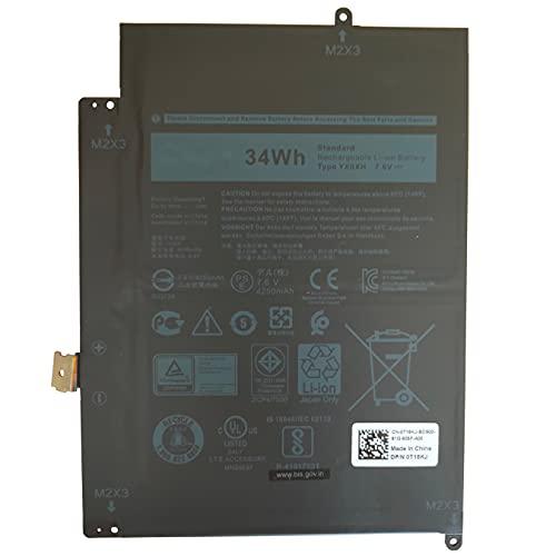 Batería de repuesto para Dell Latitude 7285 Andglim YX0XH