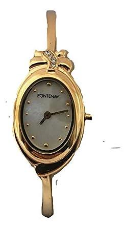 Pour En Avec Fontenay Montre Carats Bracelet Plaqué Femme 18 Or 0OvNm8nw