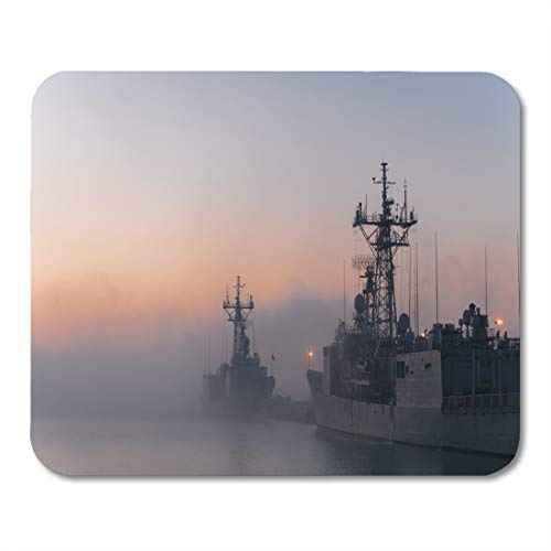 Emvency Mouse Pads Some Navy Frigates and Destroyers in Port During Cold Mouse Pad for notebooks, Desktop Computers mats 16