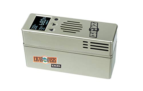 Cigar Oasis Excel 3.0 Electronic Humidifier for 1-4 Cubic ft. (75-300 Cigar Count) Humidors - The Original Set it and Forget it humidification Solution for Any Style Cigar humidor or Cigar Cooler