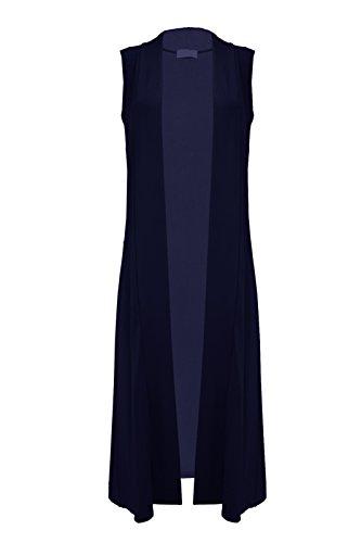 Miss Moody Fashion - Cárdigan - Sin mangas - para mujer azul marino