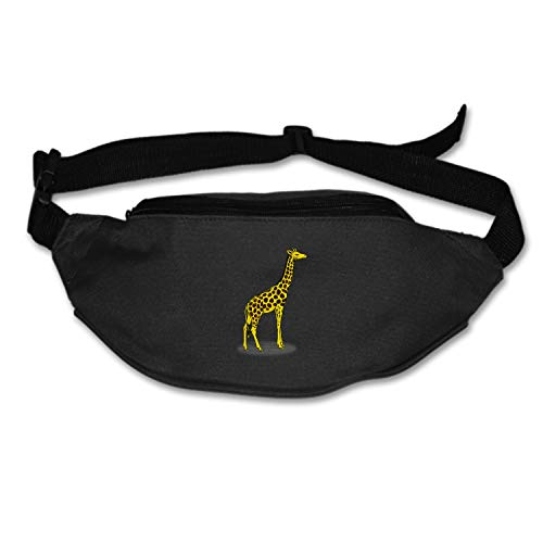 Elvira Jasper Fanny Pack Giraffe High Africa Safari Waist Pack Bag Men Women Lightweight Hip Bum Bag Workout Travel Running Hiking Cycling Black