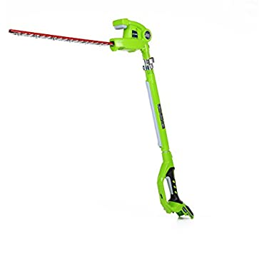 GreenWorks 2300002 24V 20 Cordless Pole Hedge Trimmer, Battery and Charger Not Included