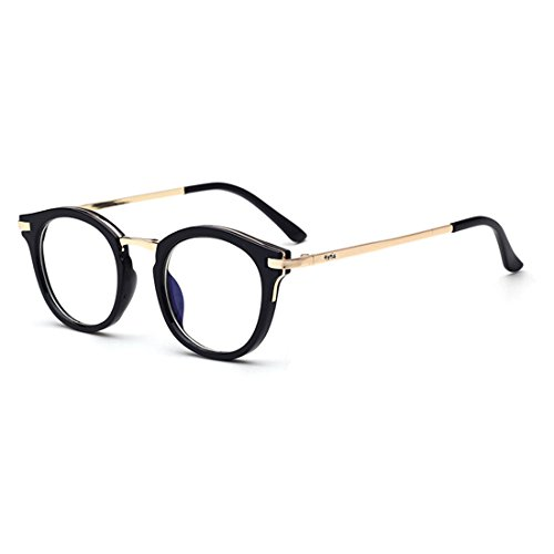 D.King Vintage Round Prescription Eyeglasses Horn Rim Clear Lens Eye Glasses Frame - Round Face Shaped For Eyeglasses