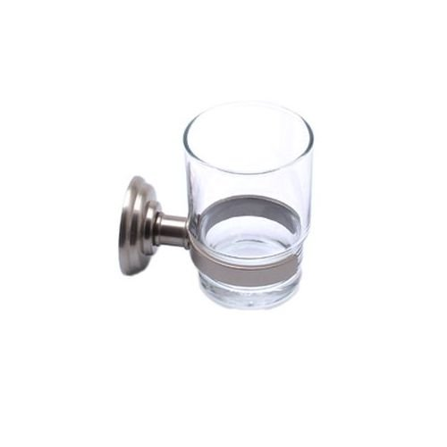 Jefferson Wall Mount - Berenson Jefferson Collection Wall Mounted Tumbler Holder, Brushed Nickel