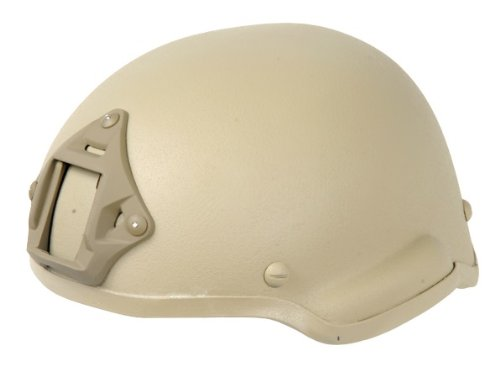 Lancer Tactical CA-727 MICH 2002 Safety Airsoft Helmet w/ NVG Mount (Tan)