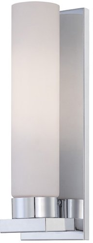 Lite Source LS-16023C/FRO Wall Sconce with Frosted Glass Shades, Chrome Finish - Fro Chrome Finish