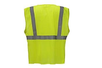 CJ Safety CJHVSV2001Z ANSI Class 2 Value Safety Vest - 4 Pockets (5XL, Green)