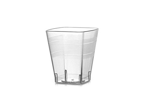 18k Two Piece Setting - Fineline Settings Wavetrends Clear Square 2 oz. Shot Glass. 18 Pieces