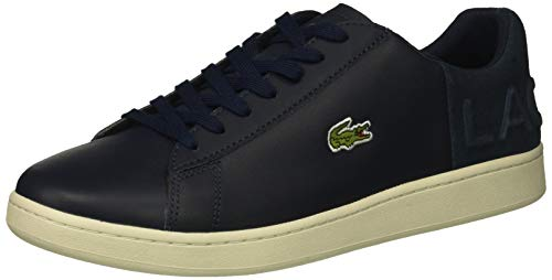 Lacoste Men's Carnaby EVO Sneaker, Navy/Off White, 8.5 Medium US