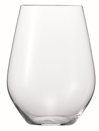 Spiegelau Authentis Casual White Wine Stemless Tumblers, Set of 4 in Gift Tube ()