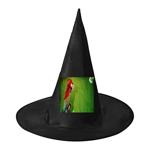 (Colorful Parrot Unisex Halloween Witch Role Playing Wizard Hat for Costume)