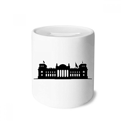 DIYthinker Germany Berlin Reichstag Landmark Money Box Saving Banks Ceramic Coin Case Kids Adults