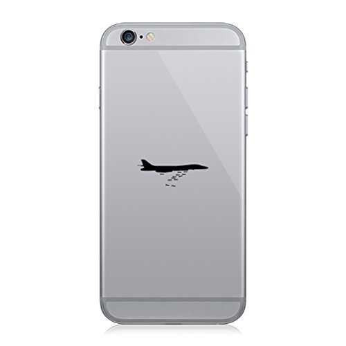 Pair of B1 Bomber Cell Phone Stickers Mobile lancer strategic bomber - Matte Black Lancer Bomber