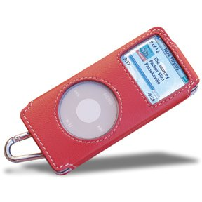 Covertec Luxury Pouch Case for iPod Nano - Nappa Leather (Raspberry)