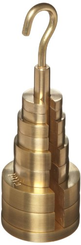 3B Scientific U30016 Brass 9 Piece Weight Set with Hooks on Both Sides