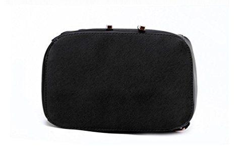 XibeiTrade - Bolso mochila  de Material Sintético para mujer negro