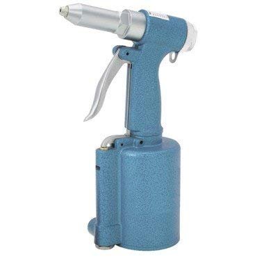 3/16-inch Air Hydraulic Riveter with Four Nosepieces: 3/32'', 1/8'', 5/32'', and 3/16''