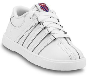 K-Swiss 201 Classic Tennis Shoe (Infant/Toddler),White,2 M US Infant