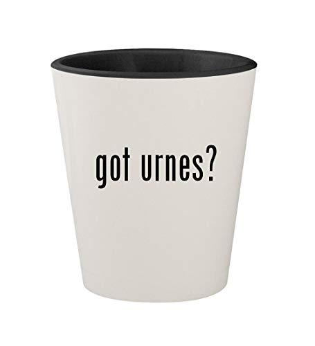 got urnes? - Ceramic White Outer & Black Inner 1.5oz Shot Glass -