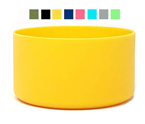 One MissionX Protective Silicone Sleeve Compatible with Hydro Flask (Yellow, Fits 12 to 24 oz Bottles)