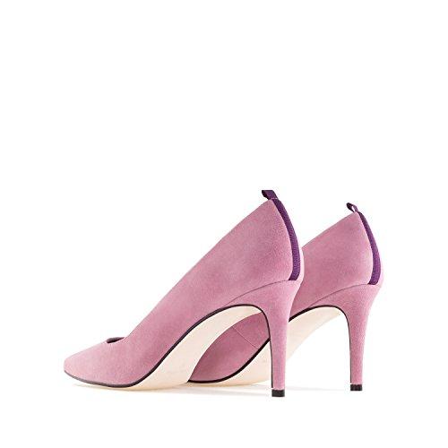 Gala.andres Machado Stiletti In Pelle Scamosciata.made In Spain.womens Petite E Grandi Taglie: Us 2-5 / Us Pelle Scamosciata Rosa Da 10,5 A 13