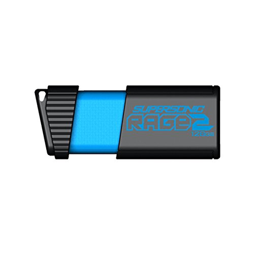 Patriot 128GB Supersonic Rage 2 Series USB 3.0 Flash Drive with Up To 400MB/sec Read, 200MB/s Write (PEF128GSR2USB) by Patriot