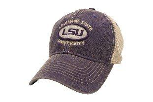 Amazon.com   LSU Tigers Hat Adjustable Trucker Style Louisiana State ... 71aa5d97fbff