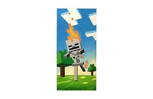 (Franco Minecraft Skeleton Cotton Beach Towel, Gamer)