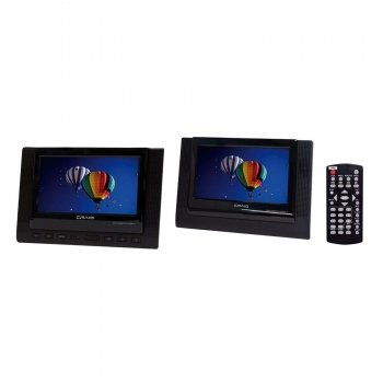 Craig 7-Inch TFT Dual Screen Portable DVD Player, Black (CTFT719) Size: 7-Inch Dual by Portable & Gadgets