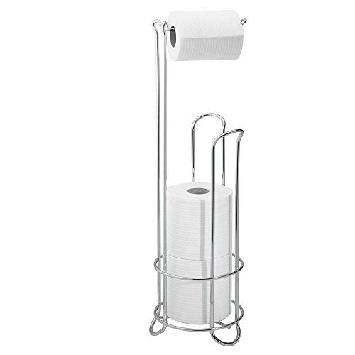 Interdesign classico free standing toilet paper holder for import it all - Interdesign toilet paper holder ...
