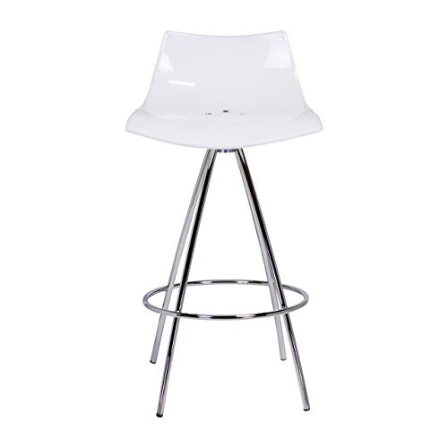 Design Tree Home Calligaris Ice Style Counter Stool, White