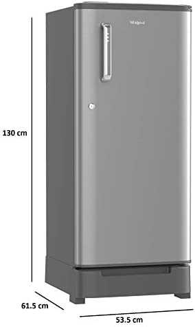 (Renewe) Whirlpool 190 L Inverter Direct-cool Single Door Refrigerator (Wde 205 Roy 4s Inv Magnum Steel, 4 Star Rating, Grey)