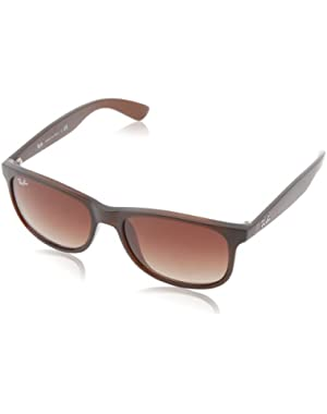 Andy - Matte Brown Frame Brown Gradient Lenses 55mm Non-Polarized