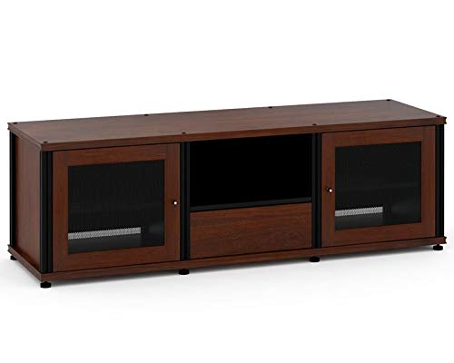 Salamander Synergy 236 A/V Cabinet w/ Two Doors & Media Drawer (Walnut/Black) ()
