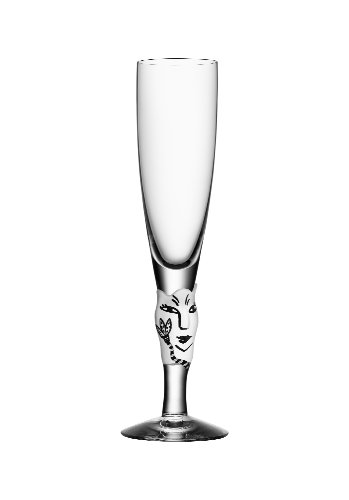 Kosta Boda Open Minds Champagne Flute, White ()
