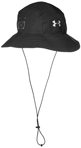Under Armour Men's ArmourVent Bucket Hat, Black (001)/Graphite, One Size
