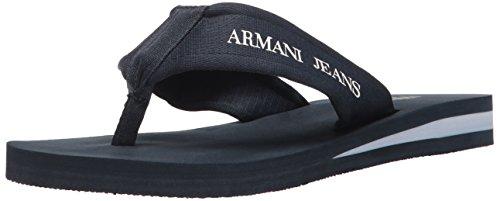 ARMANI JEANS Mens Jeans Flip Flop Flat Sandal Blue