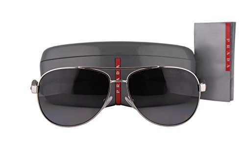 Prada PS53PS Benbow Sunglasses Steel w/Polarized Gray Gradient Lens 1BC5W1 - Sunglasses Kardashian Collection