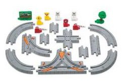- Fisher-Price GeoTrax Rail & Road System Elevation Tracks - City Track Pack
