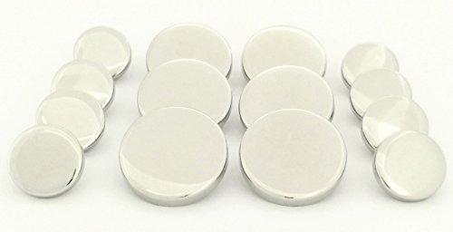 metalblazerbuttonscom-polished-silver-tabletop-14-piece-double-breasted-metal-blazer-button-set